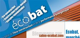 Salon écobat :  éco-construction, énergies renouvelables, constructions basse énergie