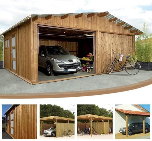 Garage En Bois En Kit : Retrouvez la gamme de garage bois de Piveteaubois