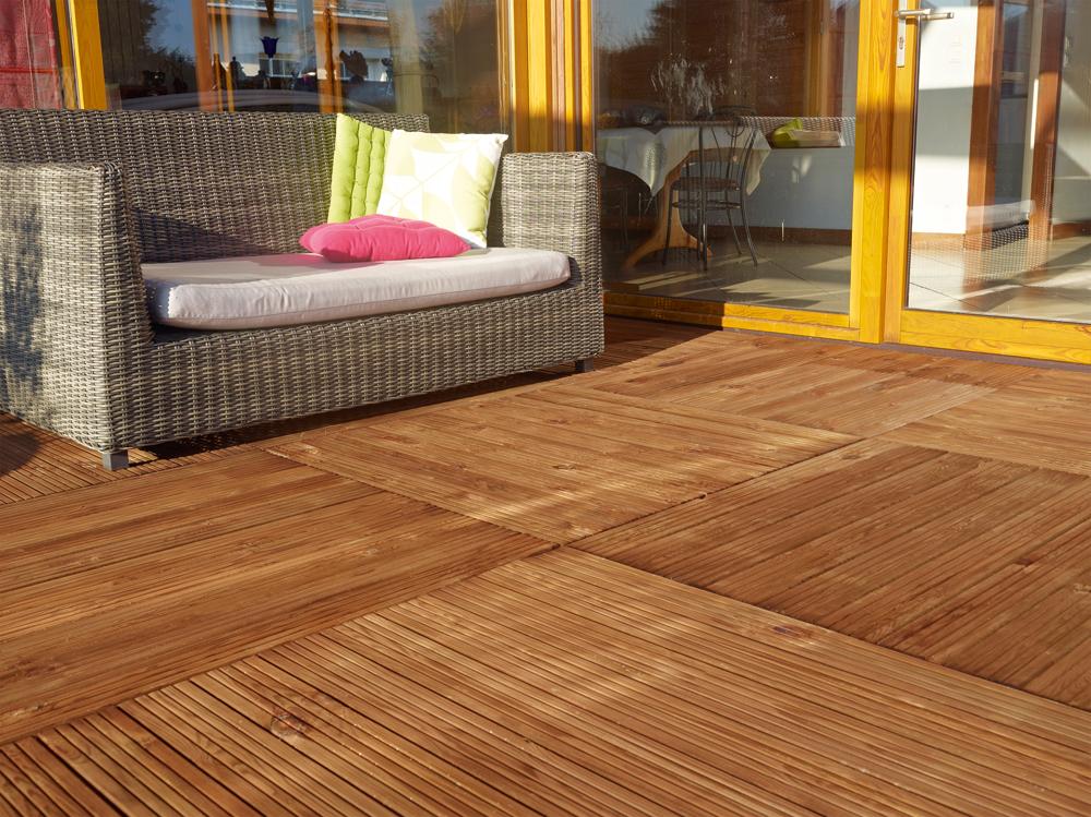 Terrasse : dalles bois