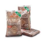 Nouveau sac de 10 Kg de granulés de bois 100% résineux français, Piveteaubois.