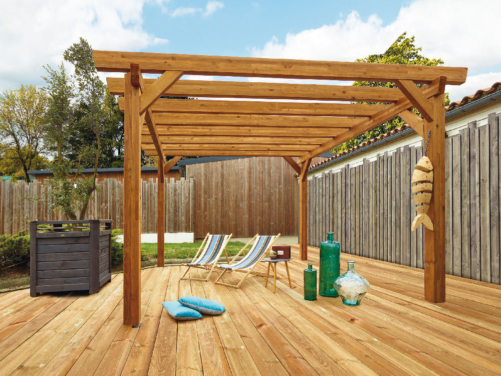 plan pergola bois faire soi meme awesome profiter duune pergola en bois massif sans se ruiner. Black Bedroom Furniture Sets. Home Design Ideas