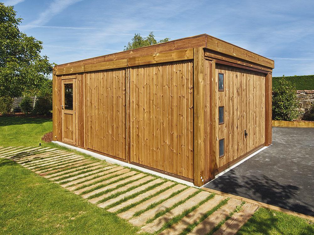garage bois baretti en pin classe 4 piveteau bois. Black Bedroom Furniture Sets. Home Design Ideas
