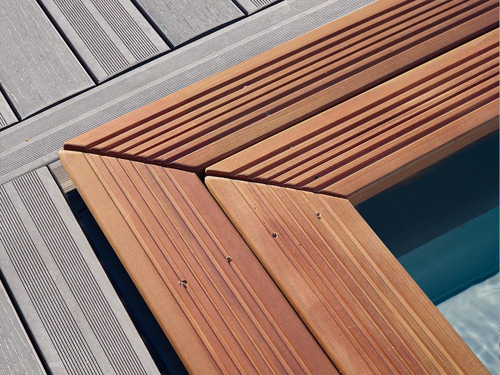 Les piscines bois durapin peuvent tre compos es selon les for Piscine piveteau