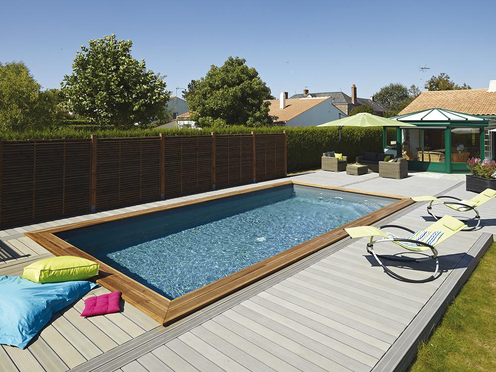 Les piscines bois durapin peuvent tre compos es selon les for Piscine durapin