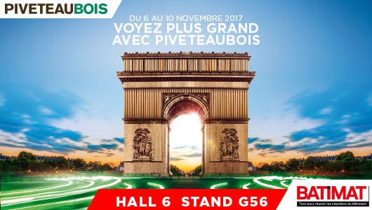 Retrouvez l'équipe Piveteaubois du 6 au 10 novembre sur le stand G56 - Hall 6