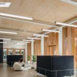 CAMPUS MICHELIN, Clermont Ferrand (63) PLANCHER CLT HEXAPLI 2 200 M² - Réalisation : Léon Grosse | Architecte : Encore Heureux, Atelier d'architecture Construire