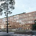 ONF, Maisons-Alfort (94) PLANCHER CLT HEXAPLI 7 000 M² - Réalisation : Mathis SA | Architecte : Vincent Lavergne Architecture Urbanisme, Atelier WOA