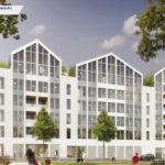 PODÉLIHA, Angers (49) PLANCHER CLT HEXAPLI 3 800 M² - Réalisation : Bouygues Construction | Architecte : Rolland & Associés
