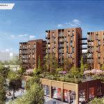 WOOD'ART, Toulouse (31) PLANCHER CLT HEXAPLI 6 800 M² - Réalisation : Maître Cube | Architecte : Seuil Architecture | Maître d'ouvrage : ICADE